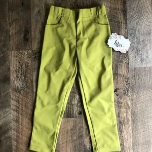 NWT 4 Lilax Neon Yellow Stretch Skinny Pants